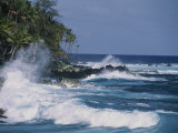 A Coastal View of the Southeast Corner of Hawaii Fotografisk tryk af George F. Mobley