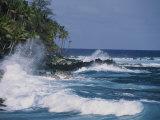 A Coastal View of the Southeast Corner of Hawaii Lámina fotográfica por Mobley, George F.