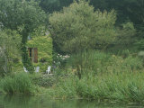 Ivy-Covered Cottage with Garden Along the Canal Du Nivernais Photographic Print by Anne Keiser