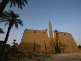 A View of the Exterior of a Temple at Luxor Photographic Print by Kenneth Garrett
