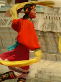 Tibetan Dancer Performs at the Chinese Ethnic Culture Park Photographic Print by Richard Nowitz