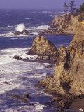 Ragged Coastline near Coos Bay, Oregon, USA Fotografisk trykk av Adam Jones