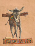 Burro Mural on Burro Alley, Downtown Santa Fe, New Mexico, USA Photographic Print by Walter Bibikow