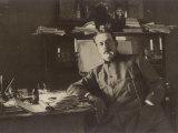 Giacomo Puccini Italian Composer in His Study Photographic Print