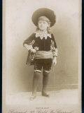 Boy in a Cavalier Costume (A Style Lámina fotográfica