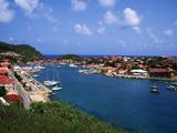 Aerial View of Gustavia Port, St. Barts, FWI Fotografie-Druck von Bill Bachmann