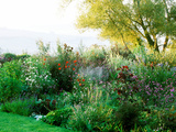 Country Garden with Large Pond, Gravel Garden, Vegetable Plot & Views to the Countryside Beyond Photographic Print by Lynn Keddie