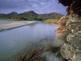 Estuary of Fango River, La Corse, France Reproduction photographique par Olaf Broders