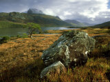 View Across Loch Maree to Slioch, October, Wester Ross, North West Scotland Photographic Print by Mark Hamblin