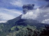 Tungurahua Volcano Erupting, Andes, Ecuador Photographic Print by Mark Jones