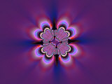 Abstract Pattern on Purple Background Photographic Print by Albert Klein