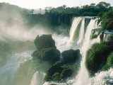 Iguassu Falls, Early Light, South America Fotografisk tryk af Mary Plage