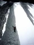 Ice Climbing, USA Reproduction photographique par Michael Brown