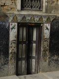 Door with Eyes, Nepal Reproduction photographique par Michael Brown