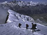 Climbing in Wallis, Switzerland Fotografie-Druck von Michael Brown