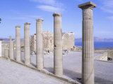 Part of Greek Stoa on Acropolis at Lindos, Greece Photographic Print by Ian West