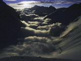 Dramatic Sun and Clouds on Southside of Everest, Nepal Reproduction photographique par Michael Brown