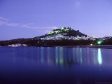 Lindos at Night from Grand Harbour, Greece Photographic Print by Ian West