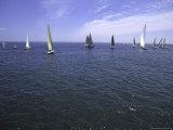 Sailboats in Ocean, Ticonderoga Race Reproduction photographique par Michael Brown