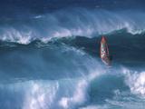 Windsurfer Among Waves Lámina fotográfica