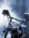 Close-up of a Motorcycle Lámina fotográfica