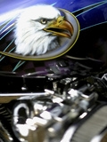 Harley Davidson Motorcycle Lámina fotográfica