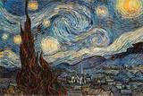 Stjärnklar natt, ca 1889 Posters av Vincent van Gogh