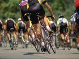 Competitive Cycling Lámina fotográfica