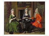 Tea Party Giclée-Druck von Nicolaes Verkolje