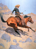 The Cowboy Giclee-trykk av Frederic Sackrider Remington