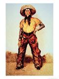 Texas Cowboy, c.1890 Giclee-trykk av Frederic Sackrider Remington