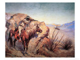 Apache Ambush Giclee-trykk av Frederic Sackrider Remington