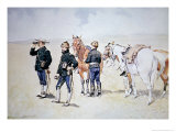 Cavalry Scouts, c.1890 Giclee Print by Frederic Sackrider Remington