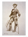 Sergeant of US Cavalry, After a Drawing of 1890 Giclee-trykk av Frederic Sackrider Remington