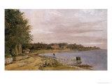 River Bank at Emilliekilde Giclee Print by Christen Schjellerup Kobke