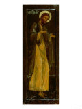 St. John the Baptist, Russian Icon, 17th Century Giclée-vedos
