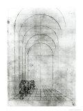 People under an Arch Giclée-tryk af Antonio Pisani Pisanello