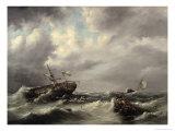 Storm at Sea Giclee Print by Hermann Koekkoek