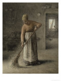 Farmer's Wife Sweeping, 1867 Giclee Print by Jean-François Millet