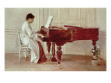 At the Piano, 1887 Giclee Print by Theodore Robinson