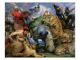 The Tiger Hunt, c.1616 Giclee Print by Peter Paul Rubens