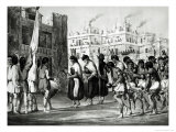 Buffalo Dance at Pueblo de Zuni, from Report of an Expedition Down the Zuni and Colorado Rivers Giclee Print by Ricard Hovenden Kern