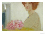 Roses, 1912 Giclee Print by Fernand Khnopff
