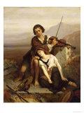 Comfort in Grief, c.1852 Reproduction procédé giclée par Louis Gallait