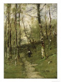 In the Barbizon Woods in 1875 Giclée-tryk af Mihaly Munkacsy