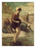 At the Water's Edge, c.1849-53 Reproduction procédé giclée par Honore Daumier