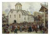 The Defence of the Town, 1918 Giclée-Druck von Apollinari Mikhailovich Vasnetsov