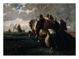 The Barbarians Before Rome Giclee Print by Evariste Vital Luminais