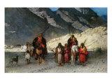 In the Mountains, 1870s Giclée-vedos tekijänä Leon Joseph Florentin Bonnat