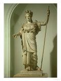 Roman Replica of the Athena Farnese Giclée-tryk af  Phidias